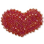 Beaded Heart Applique by PC, TR-10496